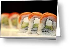 Ready To Serve Sushi  Greeting Card