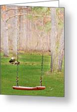Ready To Take A Swing Greeting Card