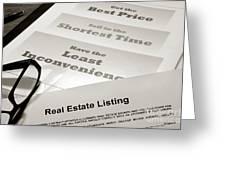 Real Estate Listing Presentation  Greeting Card