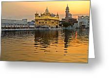 Real Gold At Golden Temple Greeting Card