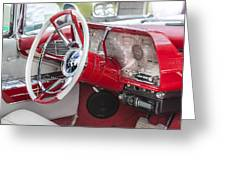 Really Red 1959 Lincoln Interior Greeting Card