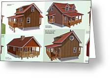 Realm Gallery Cabin Designs Greeting Card