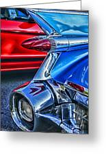 Rear Tail Lights Greeting Card