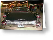 Rear View Black And Chrome Beauty Greeting Card by Donna Wilson