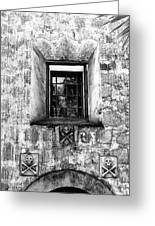 Rear Window Bw Santa Barbara Greeting Card