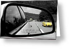 Rearview Greeting Card