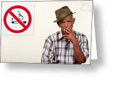 Rebel Smoker Greeting Card