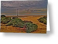 Rebuilding The Dunes Greeting Card