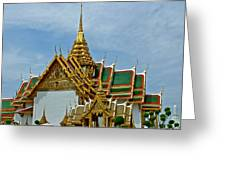 Reception Hall At Grand Palace Of Thailand In Bangkok Greeting Card