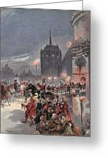 Reception Of Charles V In Amboise Greeting Card
