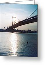 Recesky - Benjamin Franklin Bridge 1 Greeting Card