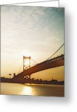 Recesky - Benjamin Franklin Bridge 2 Greeting Card