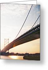 Recesky - Benjamin Franklin Bridge 3 Greeting Card