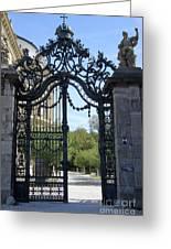Recidence Garden Gate - Wuerzburg Greeting Card