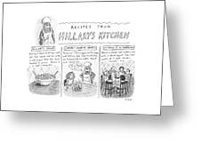 'recipes From Hillary's Kitchen' Greeting Card