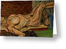 Reclined Figure Greeting Card