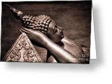 Reclining Buddha Greeting Card by Adrian Evans