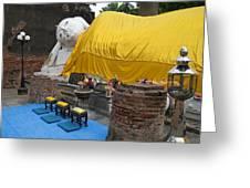 Reclining Buddha Monument Greeting Card