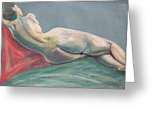 Reclining Nude Back Greeting Card by Asha Carolyn Young
