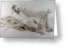 Reclining Rose Greeting Card