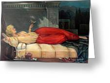 Reclining Woman Greeting Card
