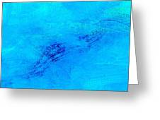 Reclusive Blue Greeting Card