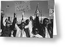 Recognize Martin Luther King Day Rally Tucson Arizona 1991 Black And White Greeting Card