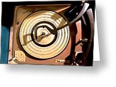 Vinyl Turner Greeting Card