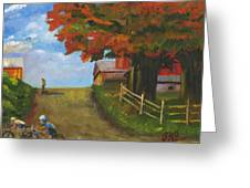 Recreation On A Fall Day Greeting Card