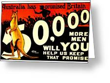 Recruiting Poster - Ww1 - Australian Promise Greeting Card