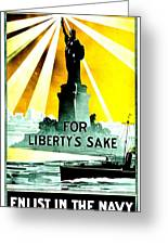 Recruiting Poster - Ww1 - For Liberty's Sake Greeting Card