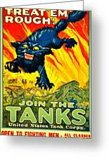 Recruiting Poster - Ww1 - Join The Tank Corps Greeting Card