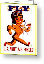 Recruiting Poster - Ww2 - Army Air Forces Greeting Card