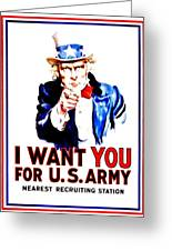 Recruiting Poster - Ww1 - I Want You Greeting Card
