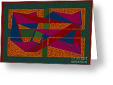 Rectangles Triangles Greeting Card by Meenal C