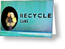 Recycle Cans Greeting Card
