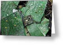 Recycling Computer Circuit Boards Greeting Card