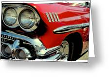 Red 1958 Chevrolet Impala Greeting Card