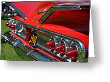 Red 1960 Chevy Greeting Card