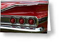 Red 1960 Chevy Tail Light Greeting Card