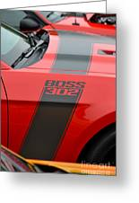 Red 302 Boss Mustang Greeting Card