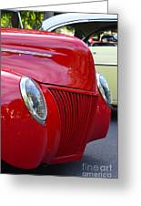 Red 40 Ford Greeting Card