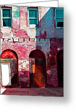 Red Abandonment Greeting Card