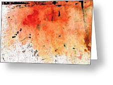 Red Abstract Art - Taking Chances - By Sharon Cummings Greeting Card