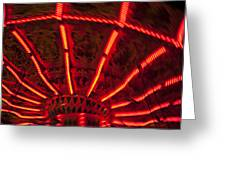 Red Abstract Carnival Lights Greeting Card