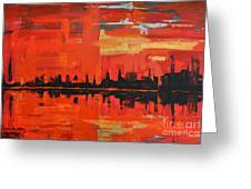 Red Amazon Sunset Greeting Card