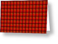 Red And Black Checkered Tablecloth Cloth Background Greeting Card