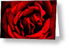 Red And Black Layers Greeting Card
