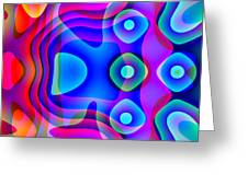 Red And Blue Greeting Card by Charles Ragsdale