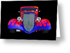 Red And Blue Custom Greeting Card